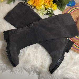 Nine West Mavira Suede Over-The-Knee Gray Boots 7